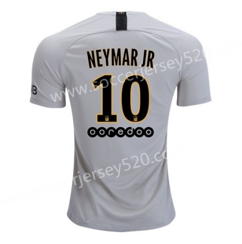 c388230ca 2018-19 Paris SG Away Light Gray #10 (NEYMAR JR) Thailand Soccer ...