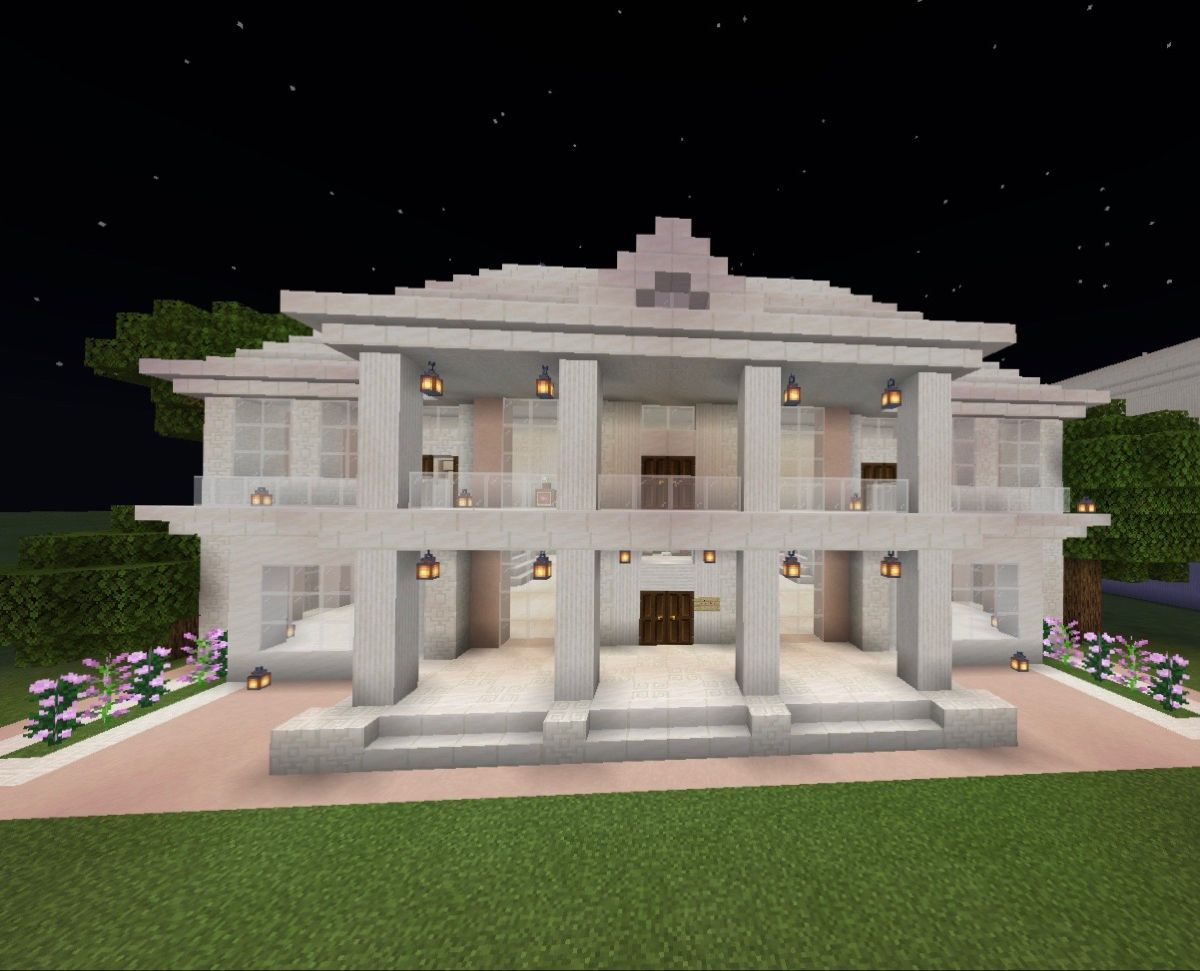 Quartz And White Terracotta House Minecraft Projects Minecraft House Designs Minecraft Building