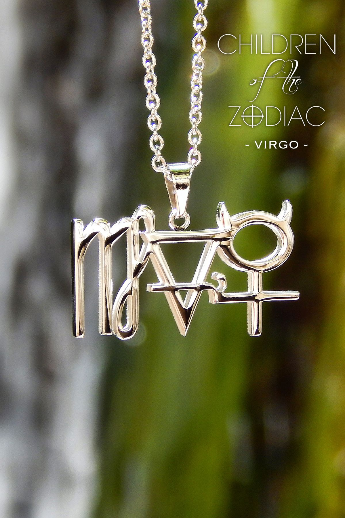 virgo zodiac necklace products blinglane