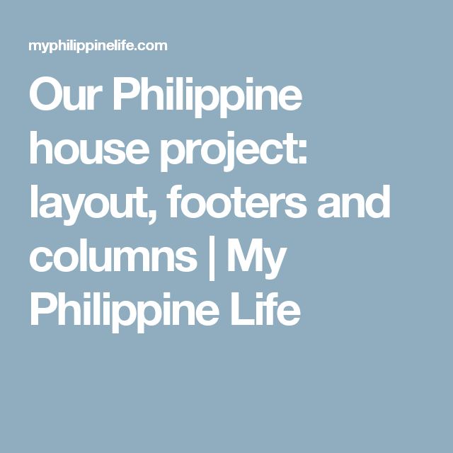 Our philippine house project