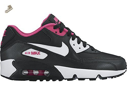 16cdfc6339 ... where to buy nike kids air max 90 mesh gs black white vivid pink youth  size