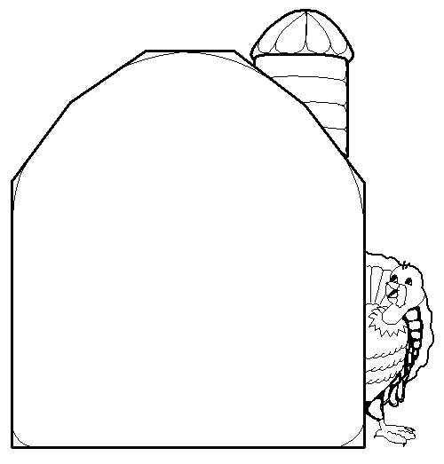 Turkey Behind The Barn