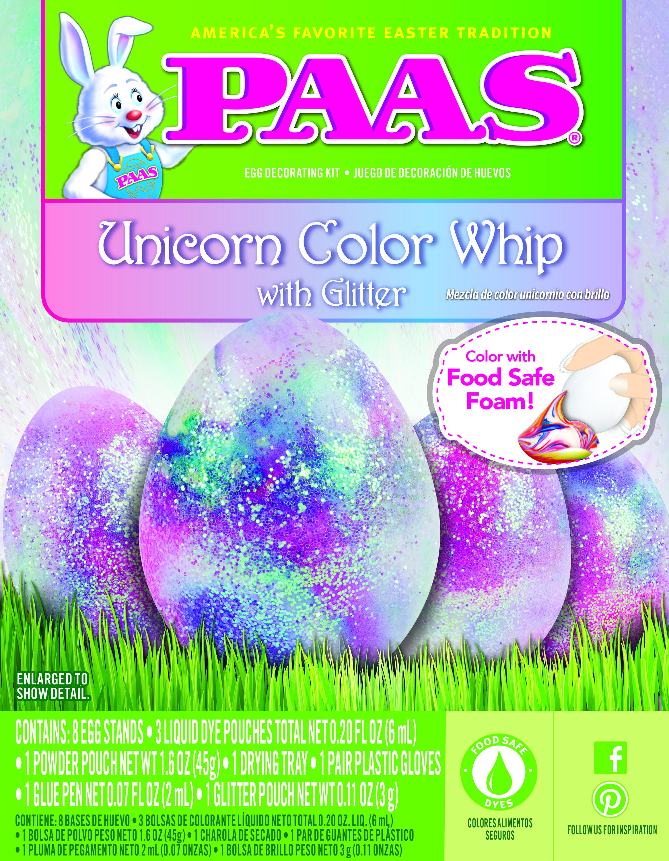 Unicorn Color Whip Easter Egg Decorating Kit NEW Sparkly Glitter