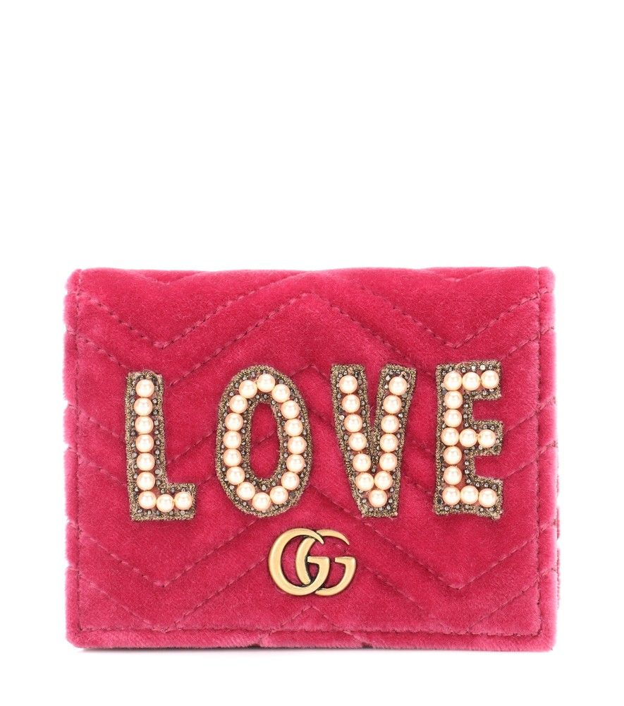 17806cfefb5 Gucci - GG Marmont velvet wallet - Gucci s GG Marmont wallet comes covered  in quilted velvet