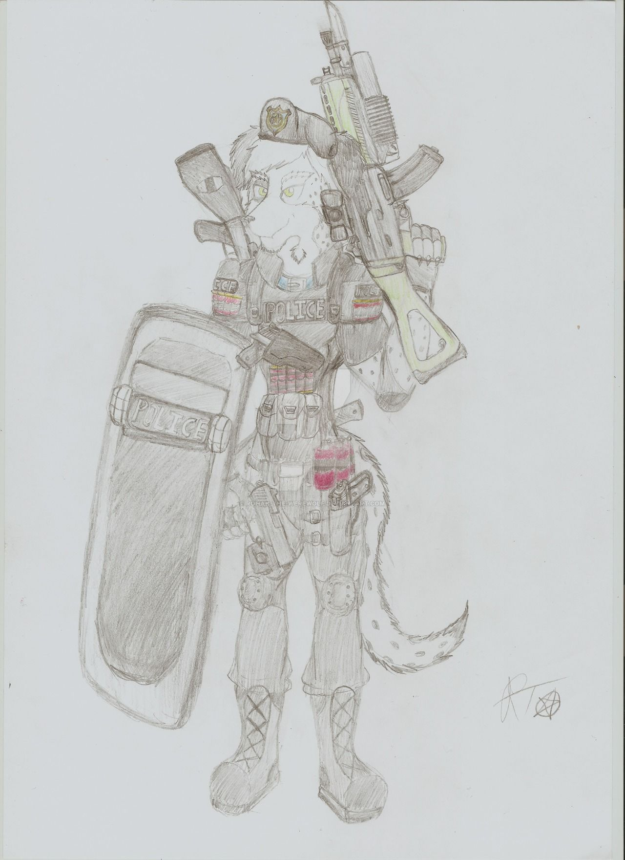 [Gift Art] Dusty Military Police Dog by Rohan-The-Werewolf on DeviantArt