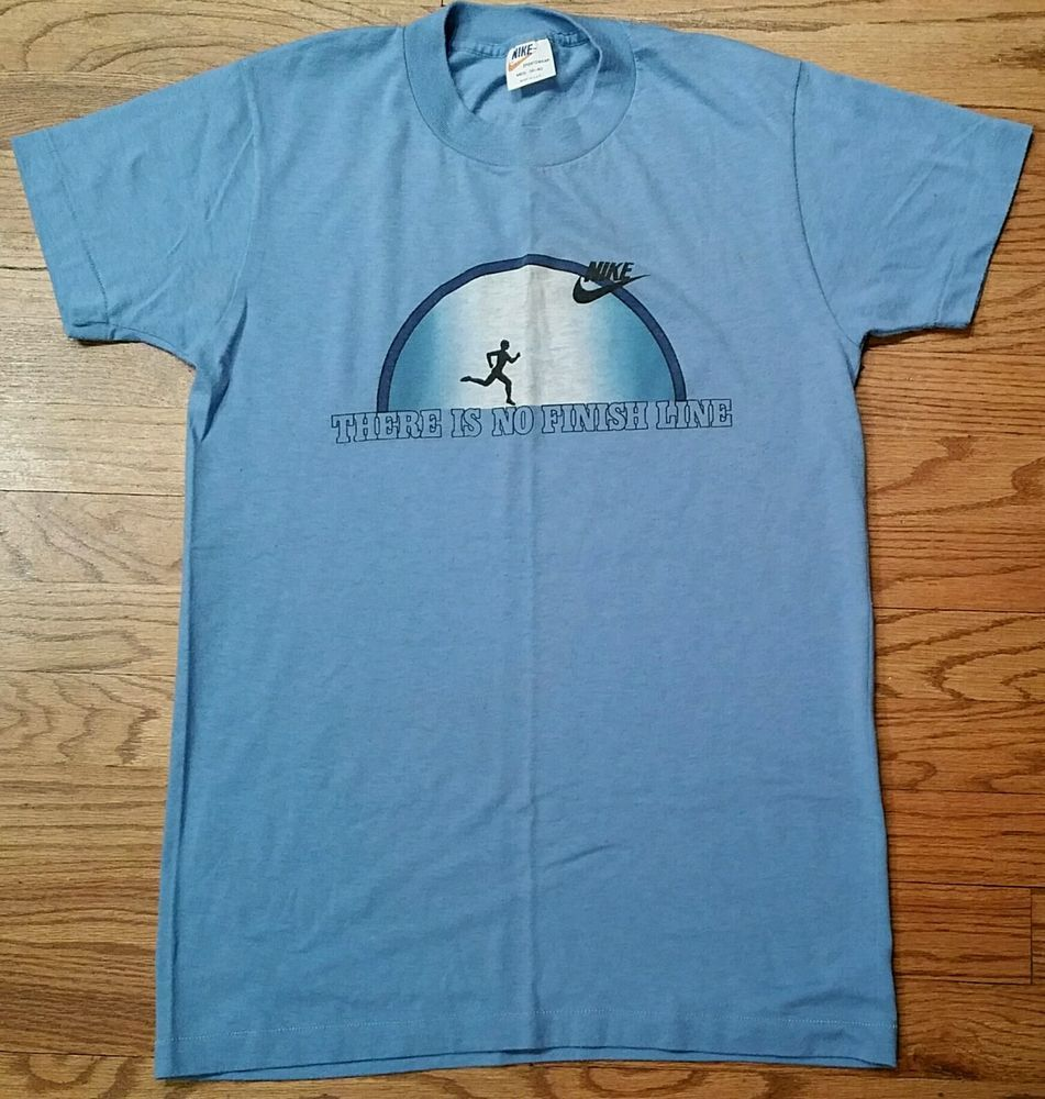b0b7d8f21ae22 Vintage 70s Nike Orange Tag Blue T-Shirt Men s Medium