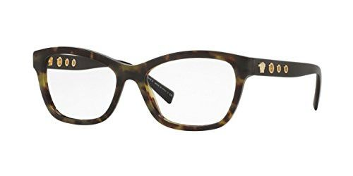 36f38f802f2 Versace VE3225 Eyeglass Frames 5183-54 - 54mm Lens Diameter Avana Military