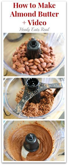 It is so easy to make almond butter! You can use either raw almonds or toasted almonds. It just depends on your preference.