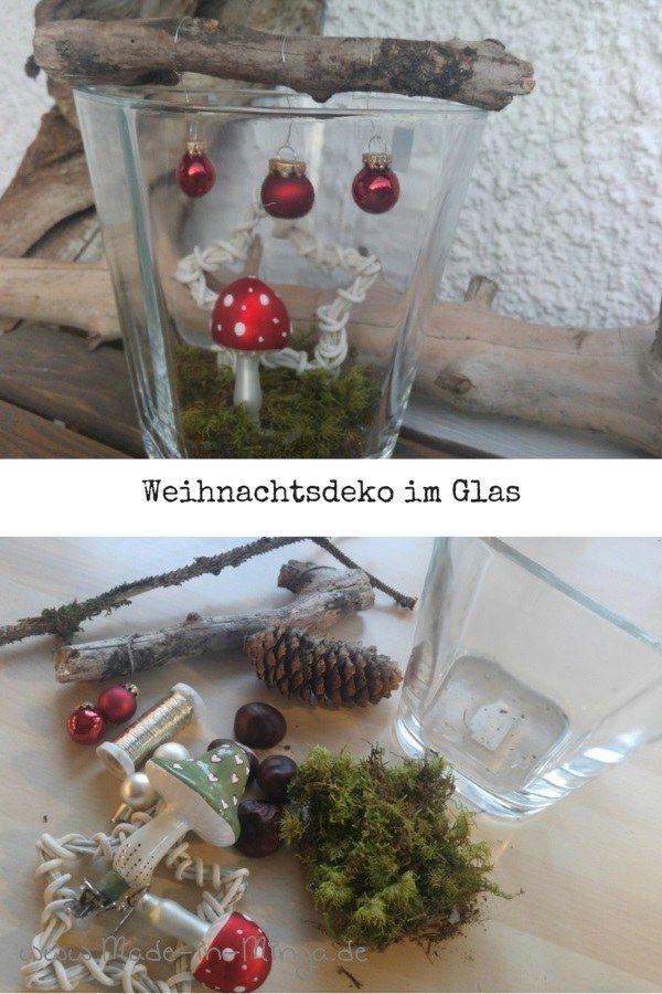 hervorragend Schnelle Weihnachtsdeko Part - 3: zu Weihnachten schnell und einfach basteln, kleine Deko im Glas | x-mas  Decoration | Christmas, Merry christmas und Christmas diy