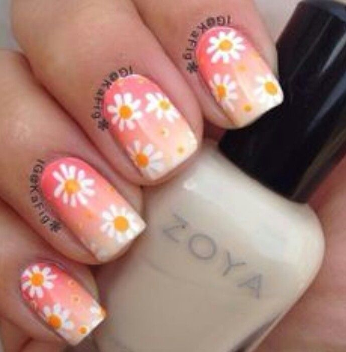 Easy flower nails | Nails | Pinterest | Flower nails, Flower and Easy