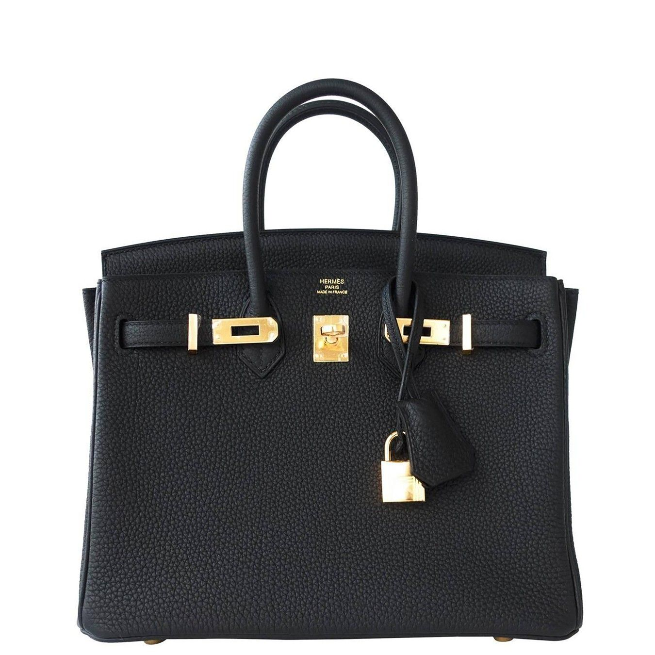 Hermes Black Mini Birkin 25cm in Togo Leather and Gold Hardware ... a01c665af27d4