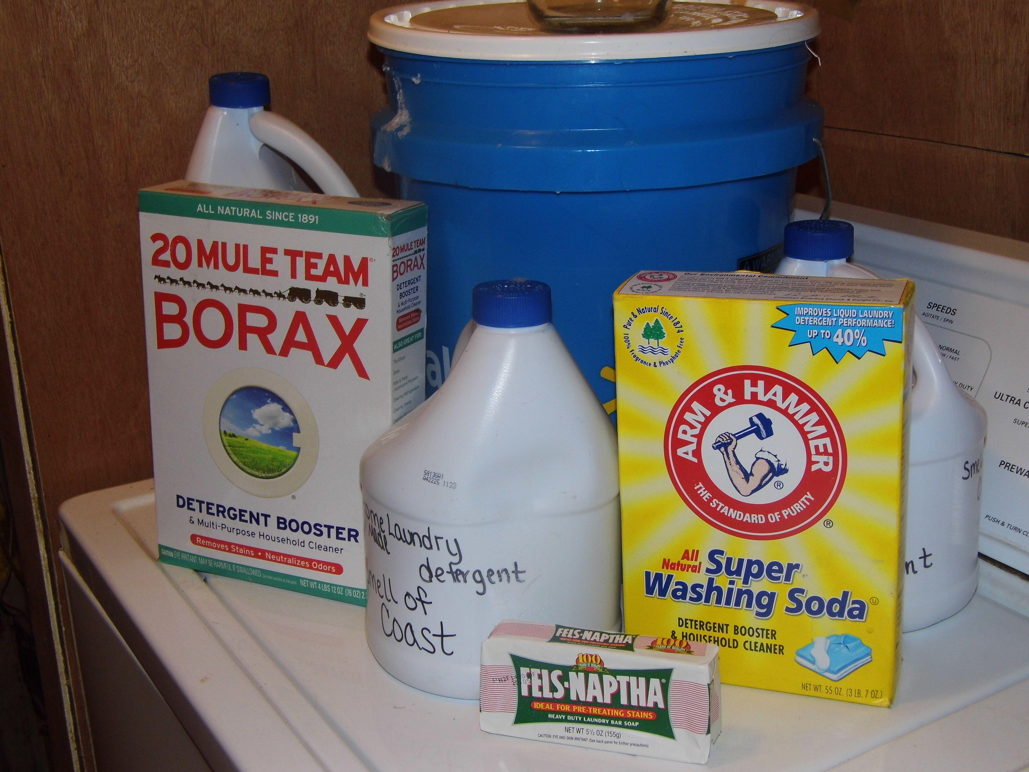 Homemade laundry detergent Need 5 gallon bucket,Felnaptha laundry bar soap, Borax, and