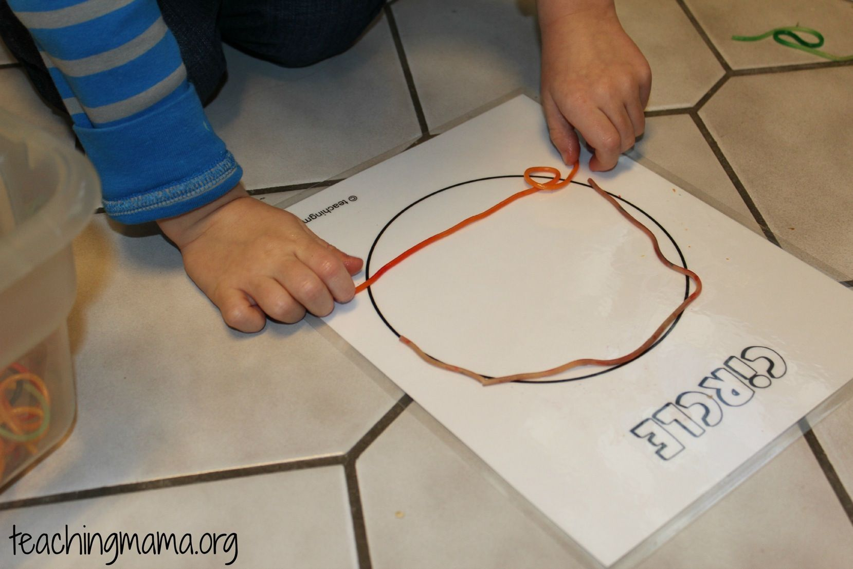 Learning Shapes With Spaghetti Noodles