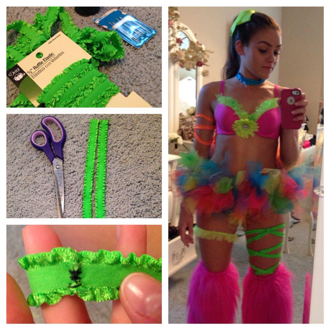 Purple Leg Wraps l Festival   Tights EDM Wear Leg Wraps Rave Clothing Thigh Wraps