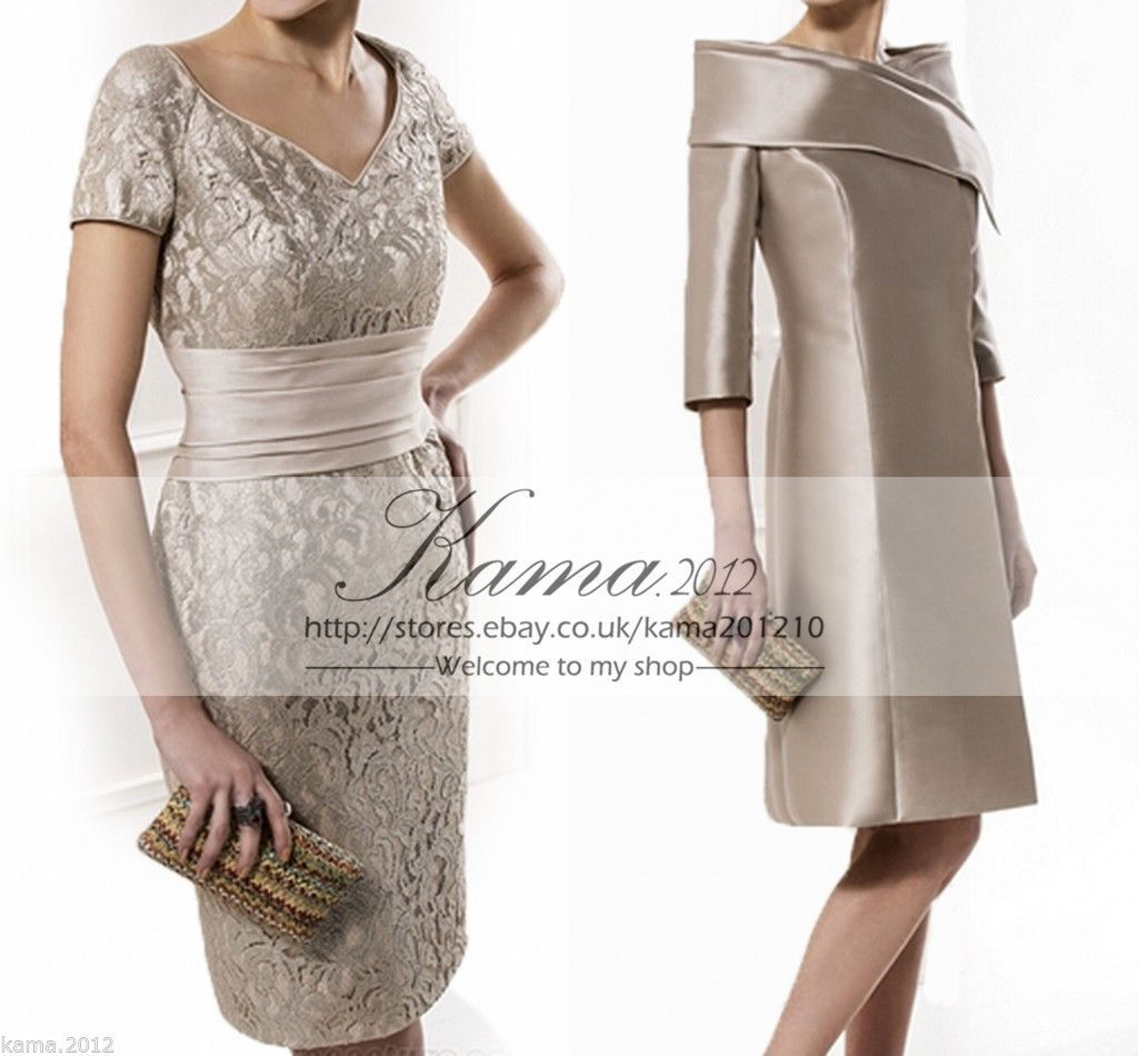 4ecfdc017fa Mother Of The Bride Dresses Knee Length Lace Wedding Guest Cocktail Party  Gown