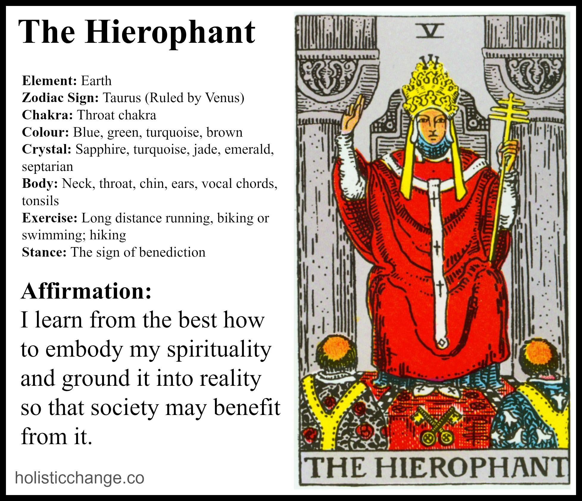 Day 12 Holistic Change With The Hierophant Tarot