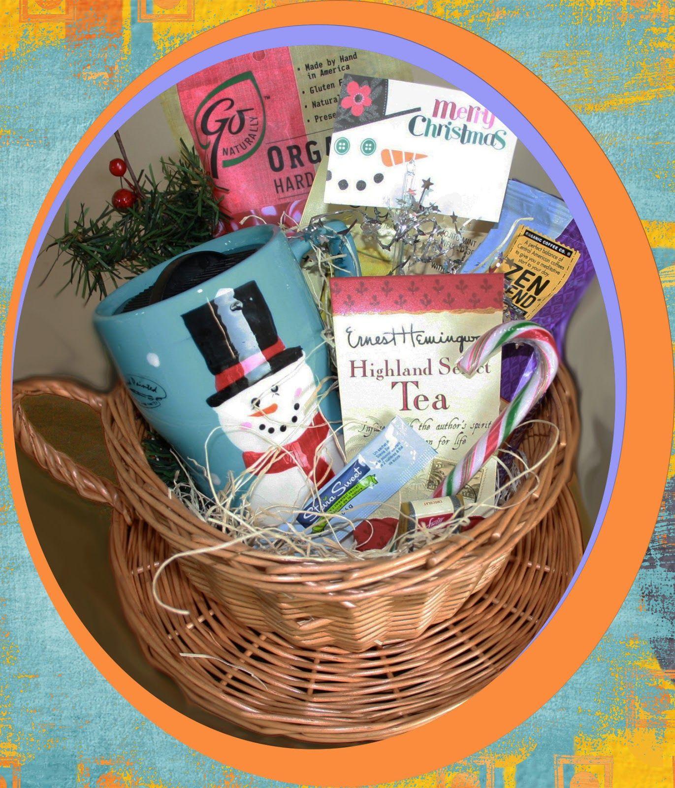 Coffee and tea tea gifts basket gift baskets christmas