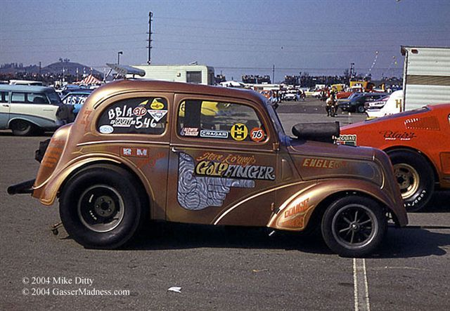 Goldfinger Anglia Gasser Drag Cars Pinterest Drag Racing