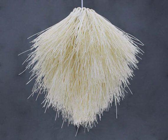 Like Corn Silk Natural Wicker Pendant Lights Ceiling Lamps ...