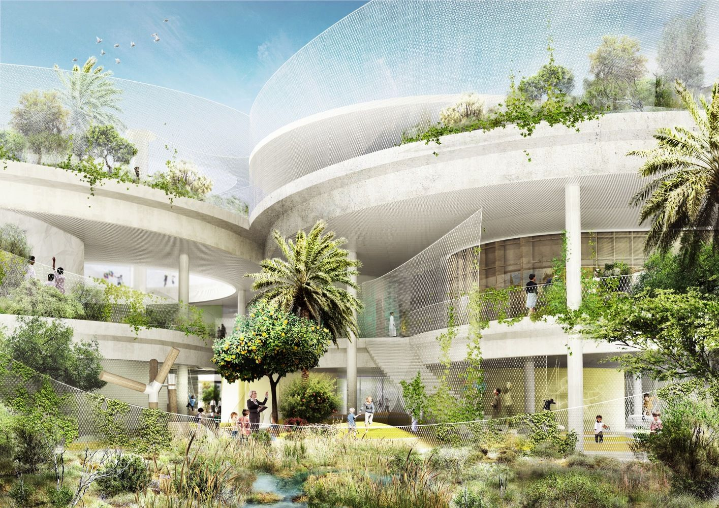 CEBRA And SLA Design A School For The Sustainable City In Dubai,Courtesy Of  CEBRA