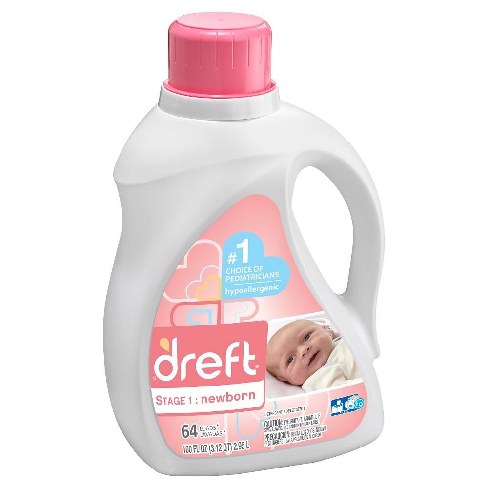 Dreft Stage 1 Newborn Baby Liquid Laundry Detergent 64 Loads