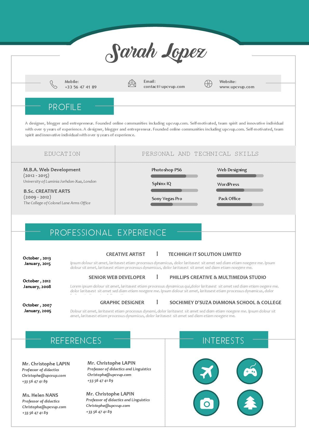 Top 20 des exemples de CV modernes à télécharger en format