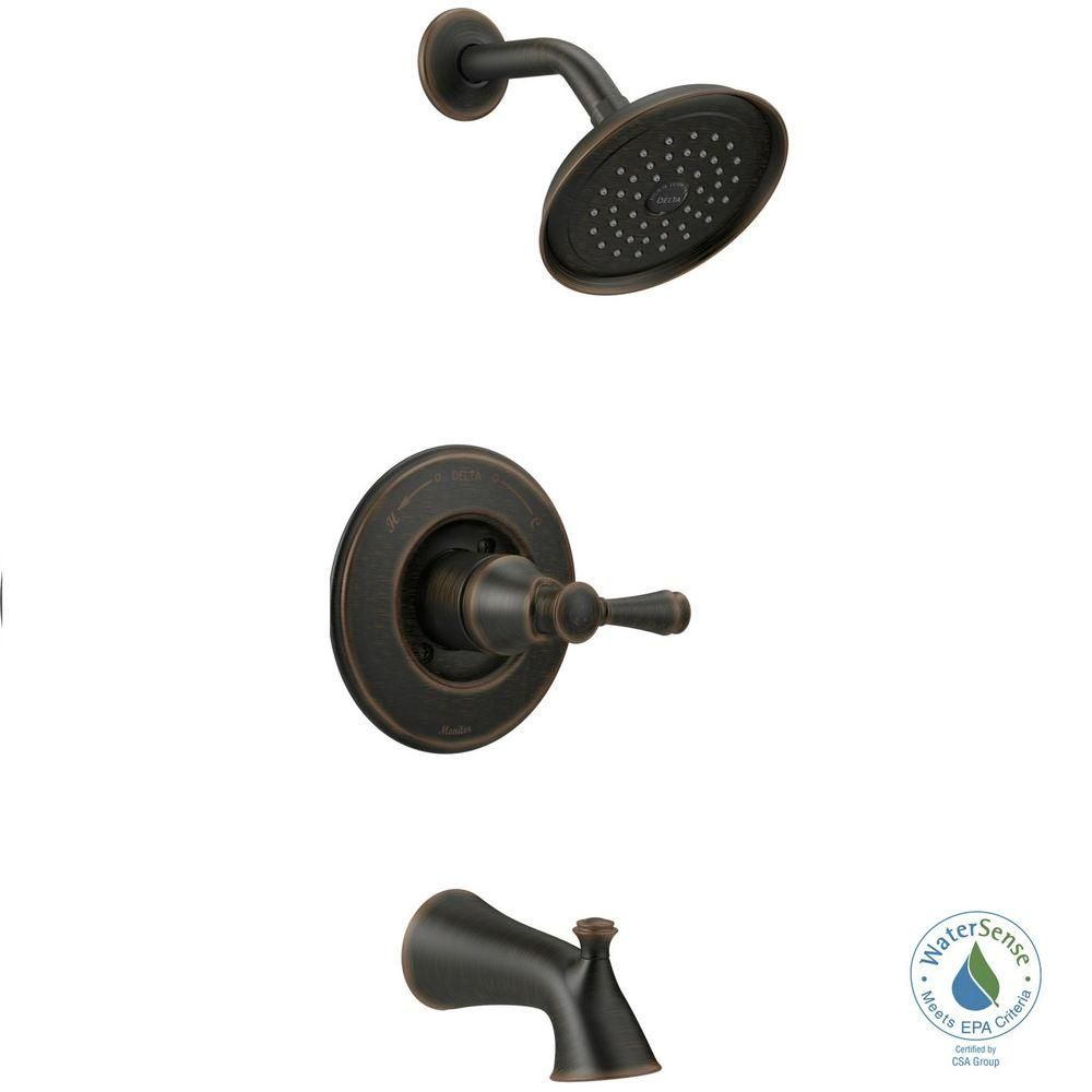 Delta Silverton Single Handle 1 Spray Tub And Shower Faucet In