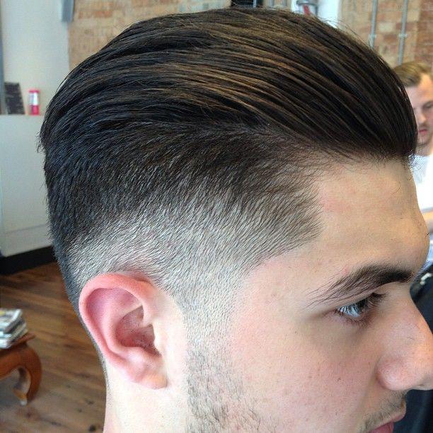 Straight Slick Hair Haircut Rockerbilly Barber Barberlife - Hairstyle barbershop indonesia