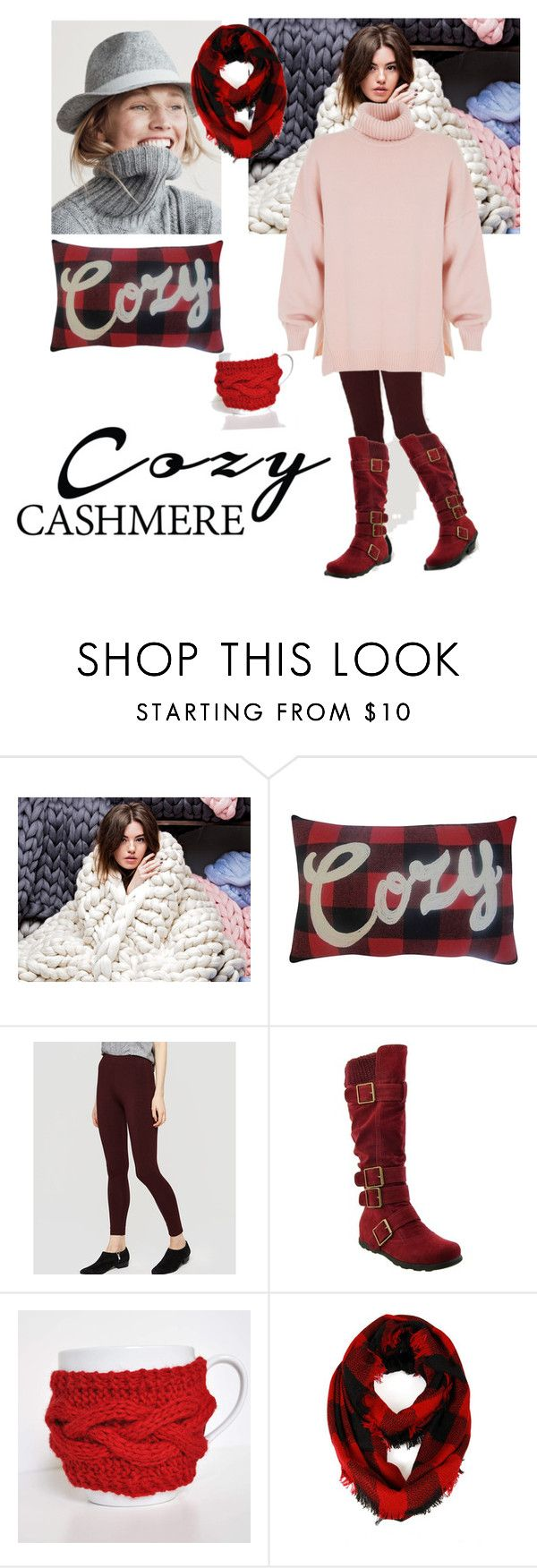 """""""Cozy Cashmere"""" by amiraahmetovic ❤ liked on Polyvore featuring St. Nicholas Square, J.Crew, LOFT, Cozy by LuLu and TIBI"""