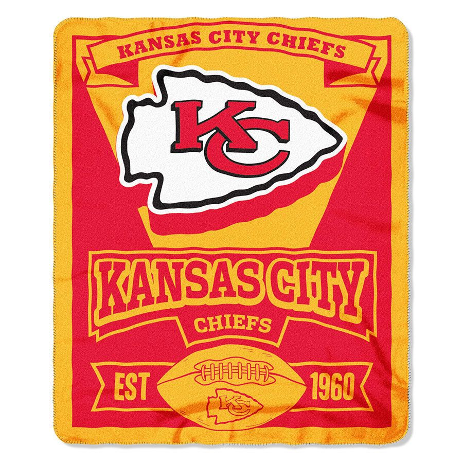 """NFL Kansas City Chiefs Fleece Blanket Throw Marque 50"""" X 60"""" Warm #Northwest #KansasCityChiefs"""