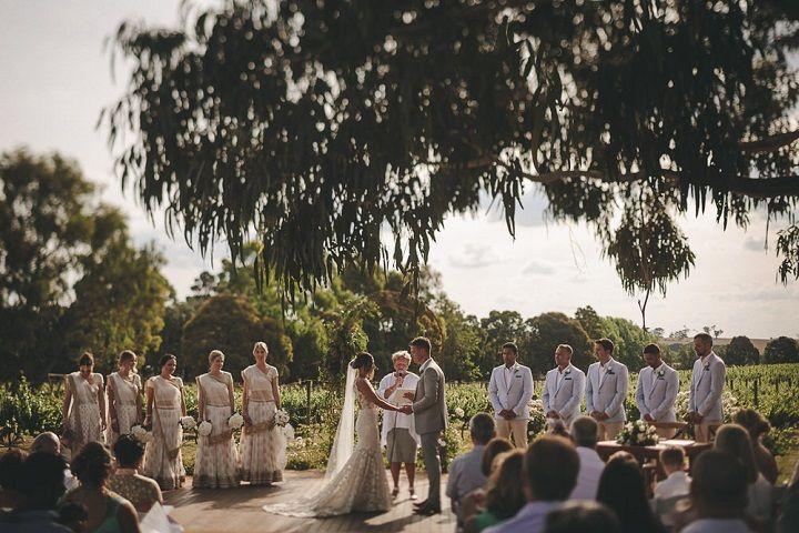 Outdoor wedding ceremony #weddingceremony