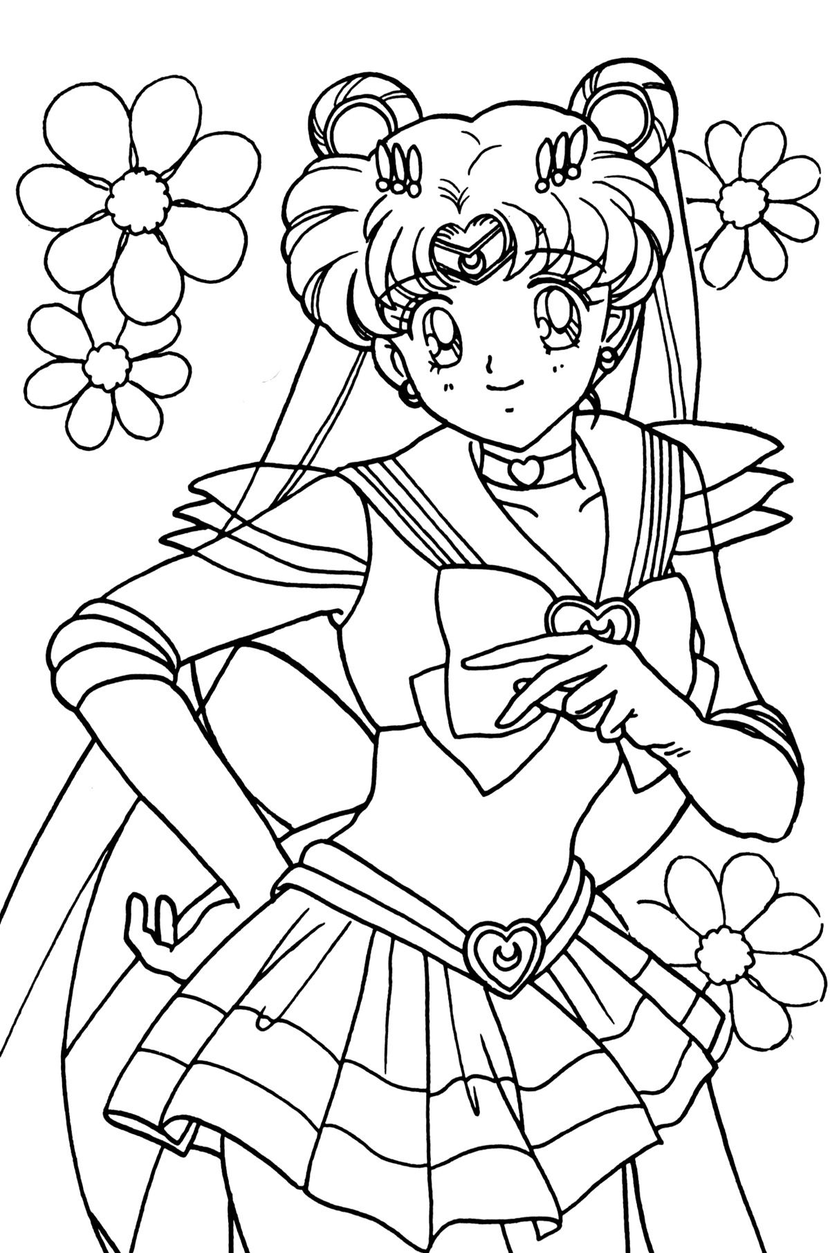 sailor moon coloring pages beautiful women