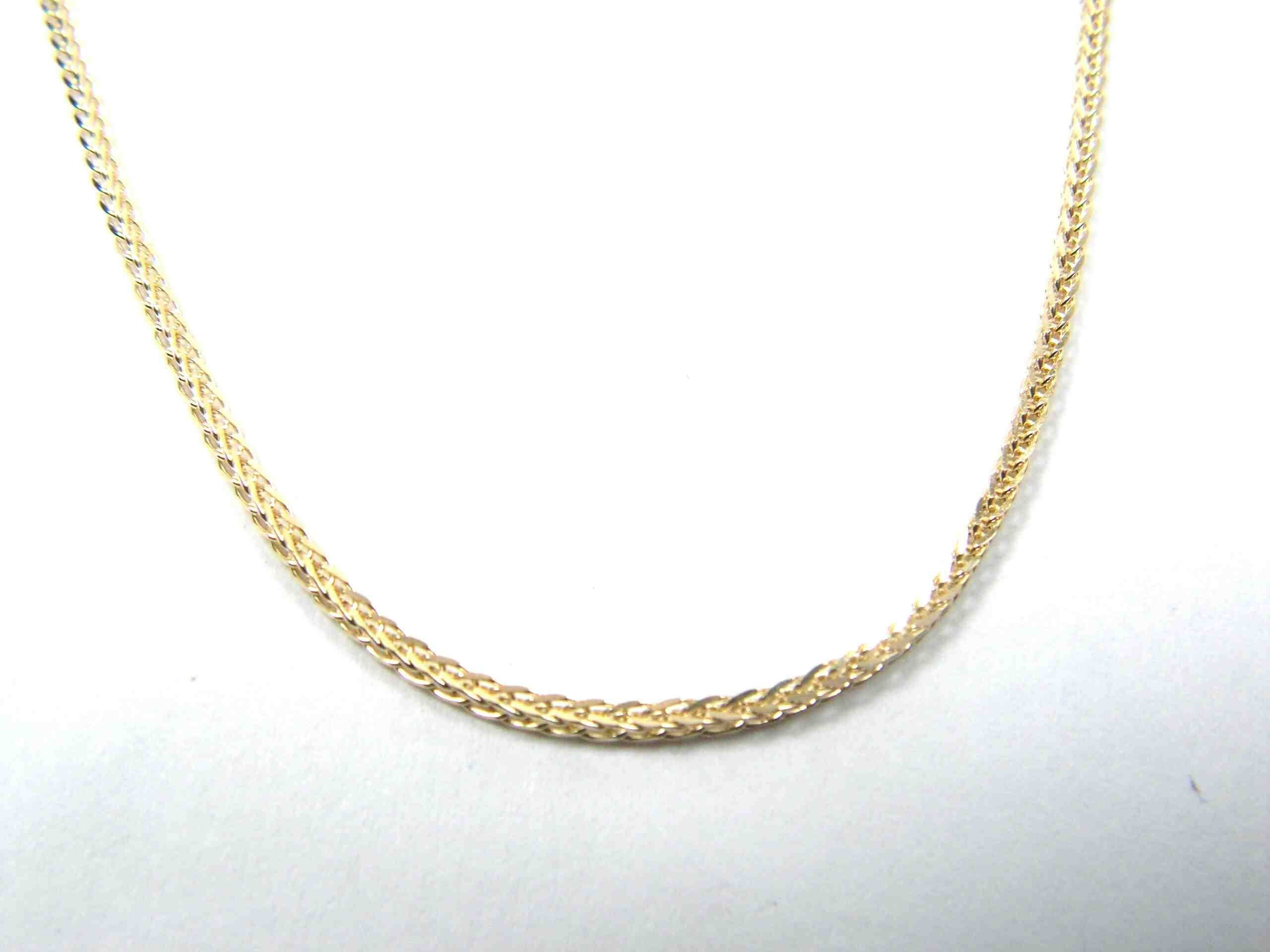 link gold necklace chains inches in and mens railroad yellow