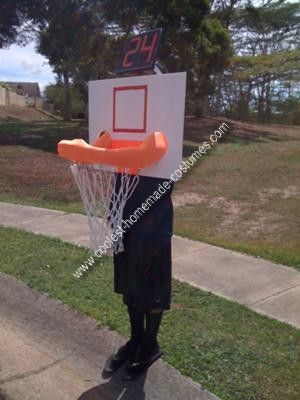 Homemade Basketball Hoop Costume Get Dunked On! Literally. Here is a little play by play of my basketball hoop costume this year Materials I needed Foam ... & Coolest Homemade Basketball Hoop Costume | Halloween costumes ...