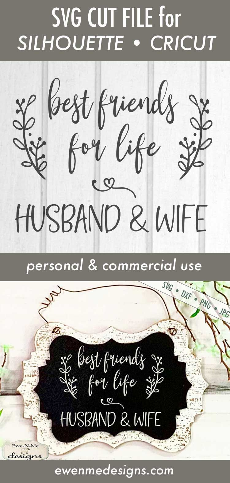 Best Friends For Life Husband Wife Wedding Svg In 2020 Best Friends For Life Valentines Svg Svg