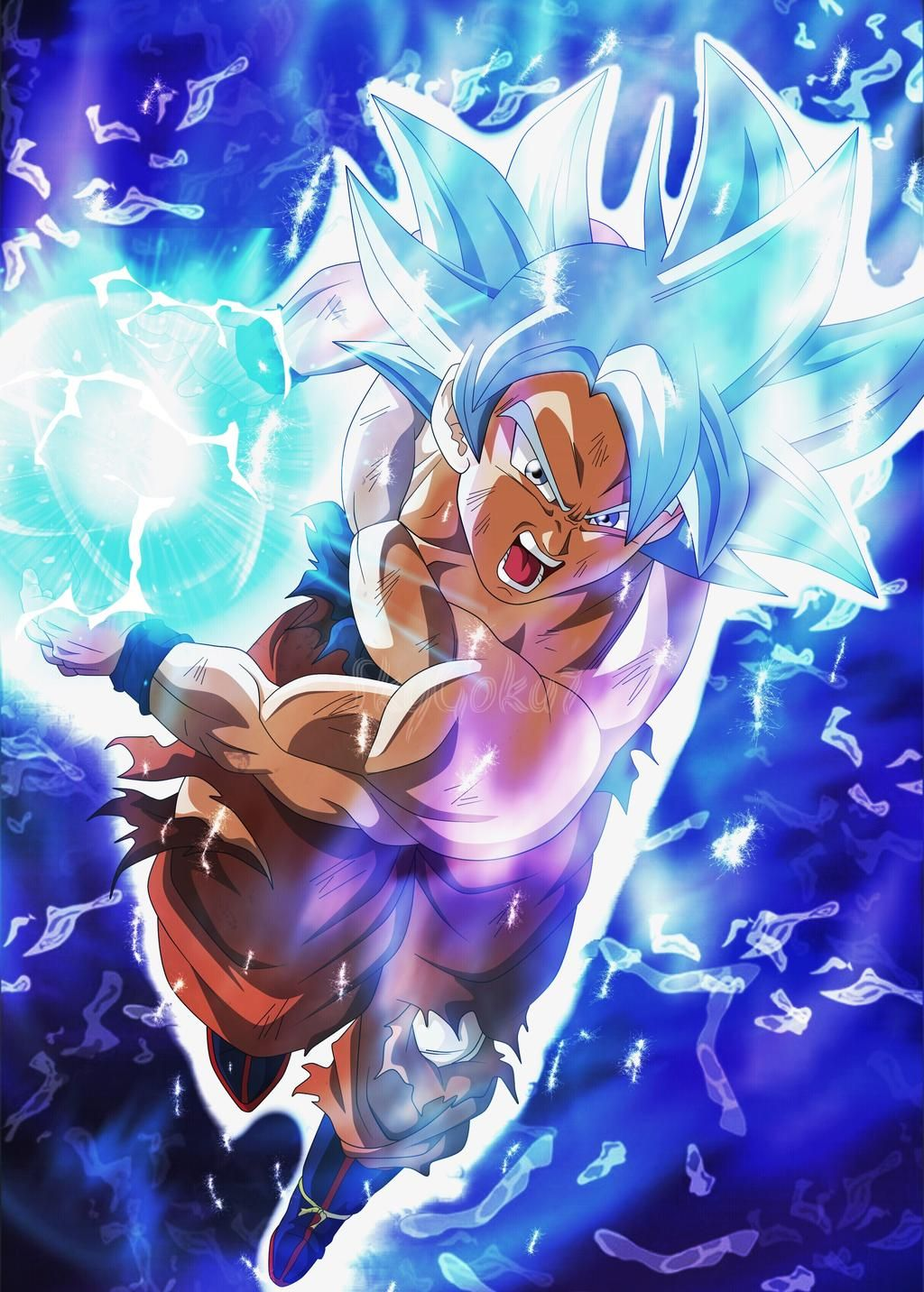 Ultra Instinct Goku Kamehameha By Skygoku7 Dragon Ball Super Artwork Dragon Ball Super Goku Anime Dragon Ball Super