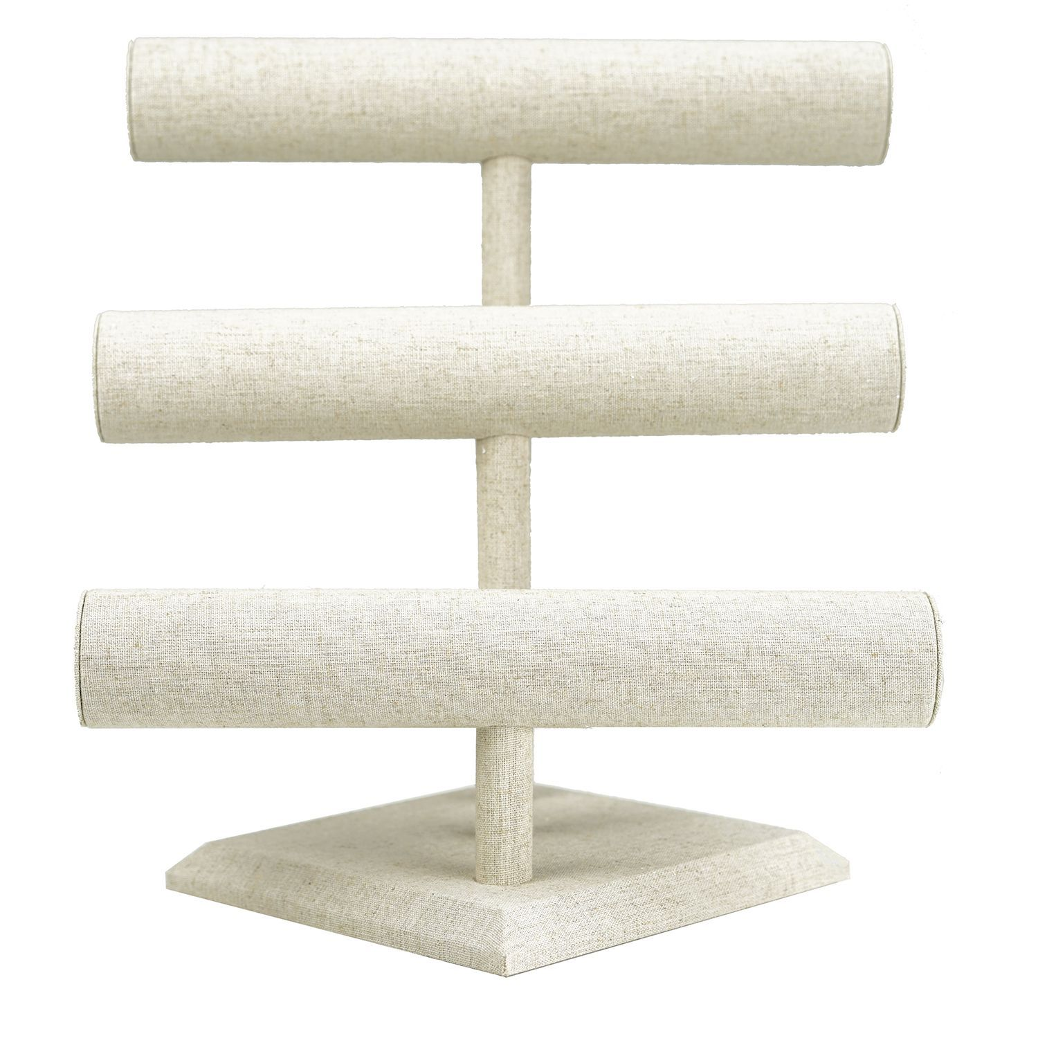 White Triple Bar Bracelet Stand