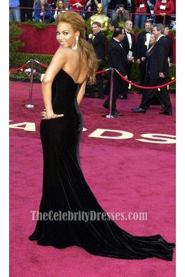 Beyonce Knowles Black Formal Dress Oscar 2005 Red Carpet Wedding