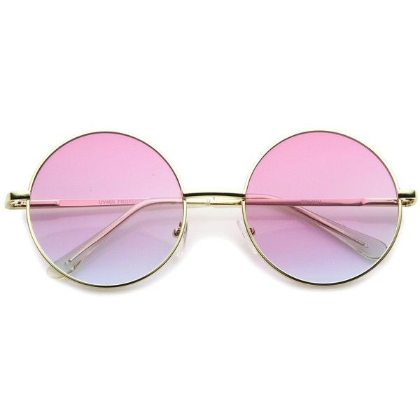 53477a87559 Retro Festival Oversize Round Color Lens Sunglasses A134 NYLON (£8.43) ❤  liked on Polyvore featuring accessories