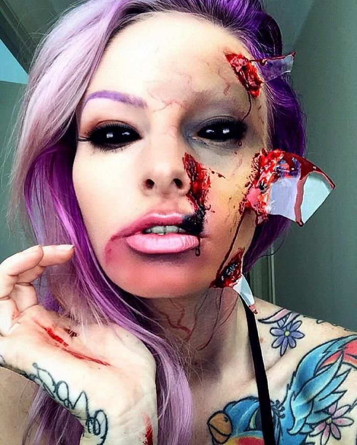 This Artist\'s Halloween Makeup Will Leave You Absolutely Petrified ...