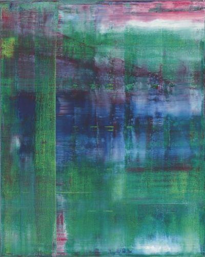 Gerhard richter tableau abstrait 1994 huile sur toile catalogue raisonn - Toile imprimee abstrait ...