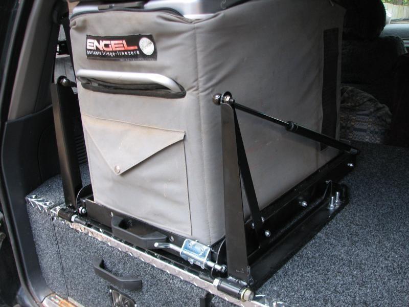 Tilt Fridge Slide And Rear Drawers Slide In Camper Diy Camper Ute Camping