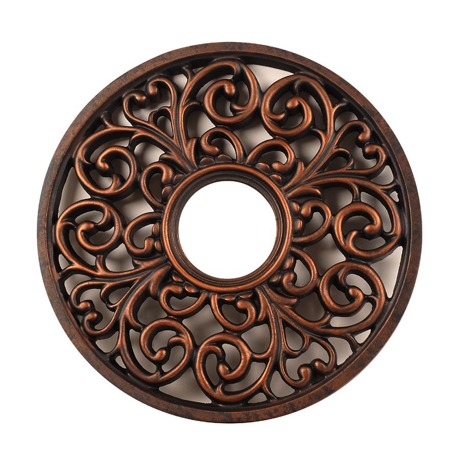 Ceiling Medallions Lowes Shop Portfolio Antique Bronze Ceiling Medallion At Lowes