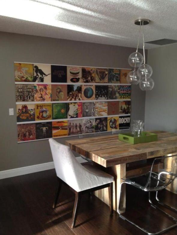 Displaying Records On Wall Shelving Kewl Stuff Framed