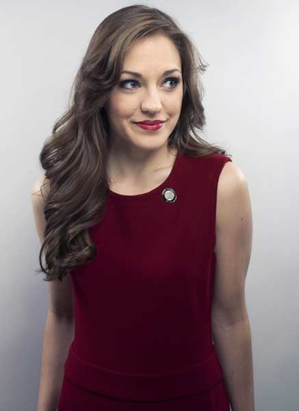 Actress Laura Osnes poses for a portrait in New York.
