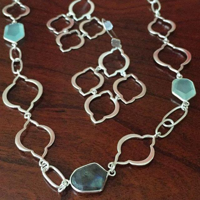 Arabesque necklace & Chandelier earrings, shop my online boutique ...