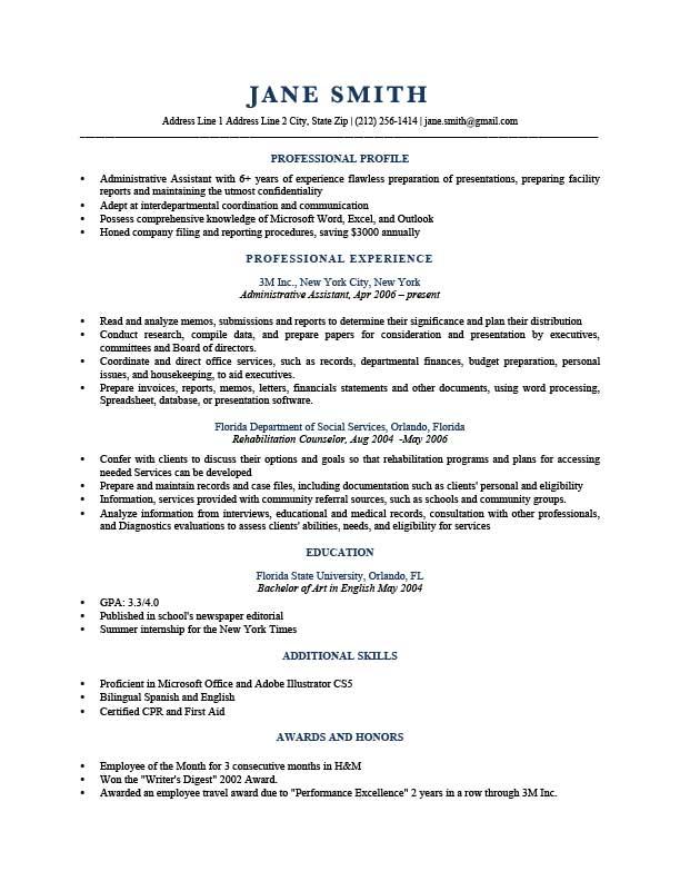 How to Write a Winning Resume Profile   Resume profile ...