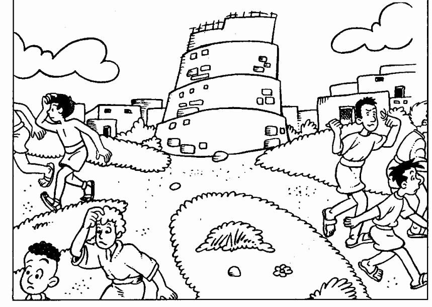 √ 24 tower Of Babel Coloring Page in 2020   Tower of babel ...