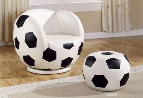 Russian Soccer Furniture Chair And Ottoman Ball Chair Classic