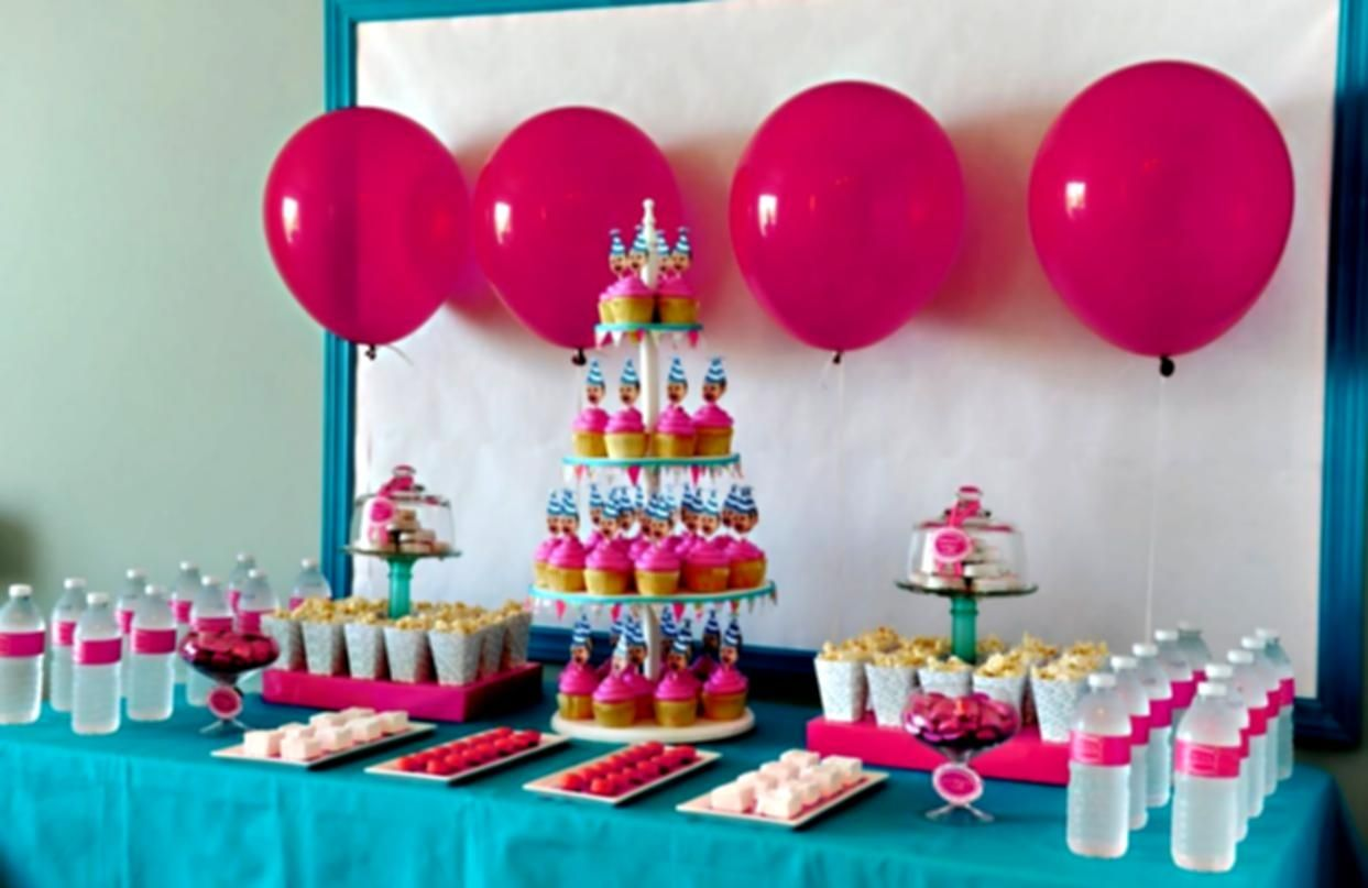 Birthday Party Decoration Ideas At Home For Decorating Niffkyp Birthday Party Snacks First Birthday Party Themes Girls Birthday Party